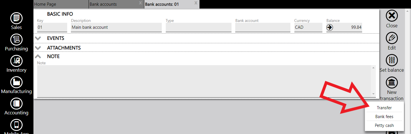 transfer between two bank accounts