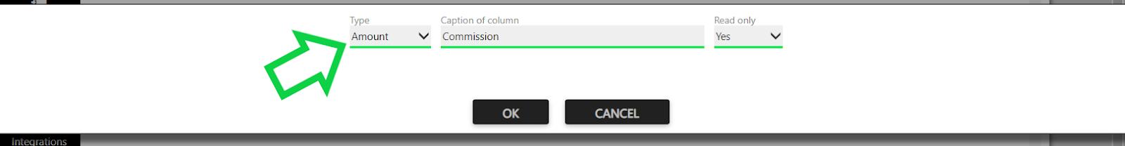 custom field amount type