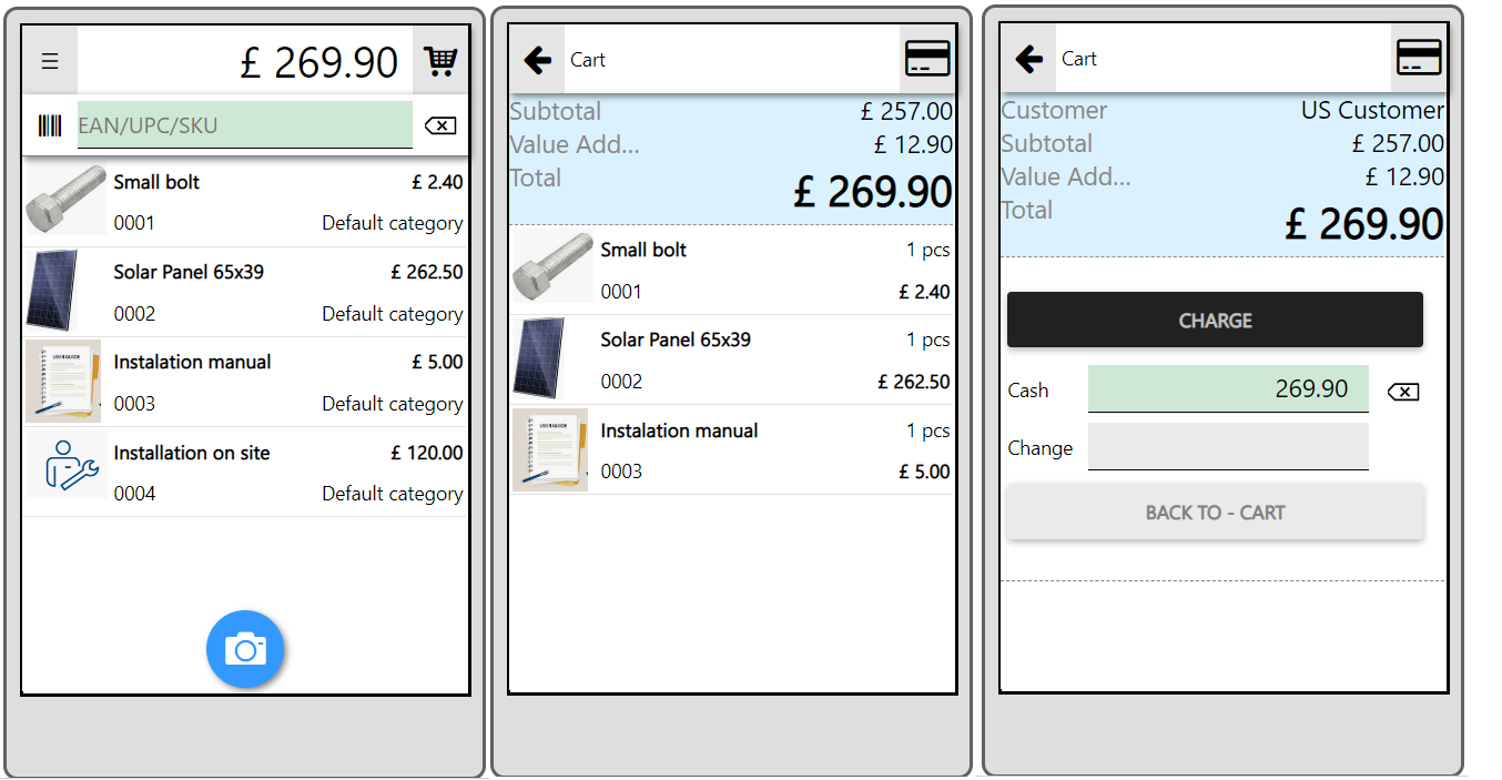 taxes in mobile app point of sale