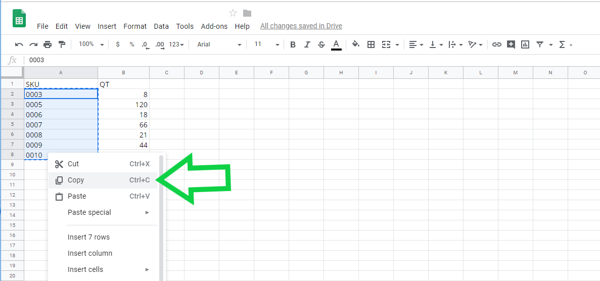 inventory checking excel table