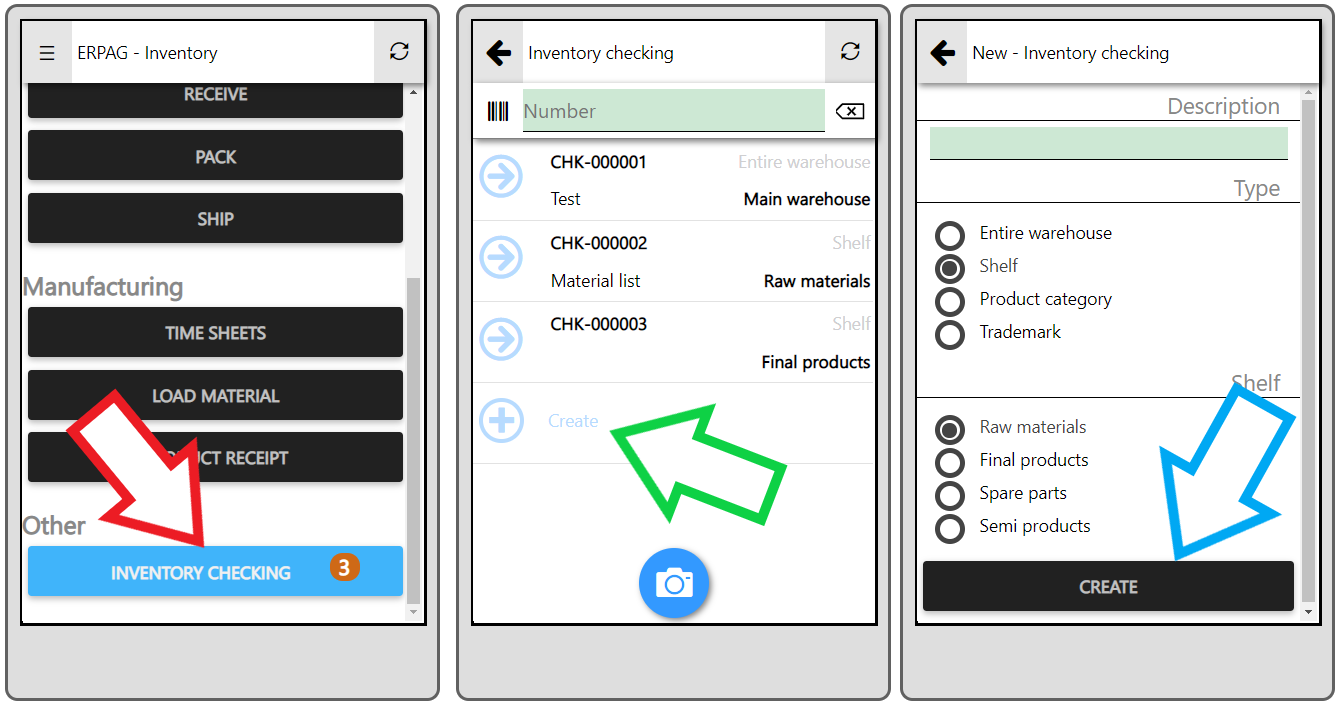 inventory checking mobile app