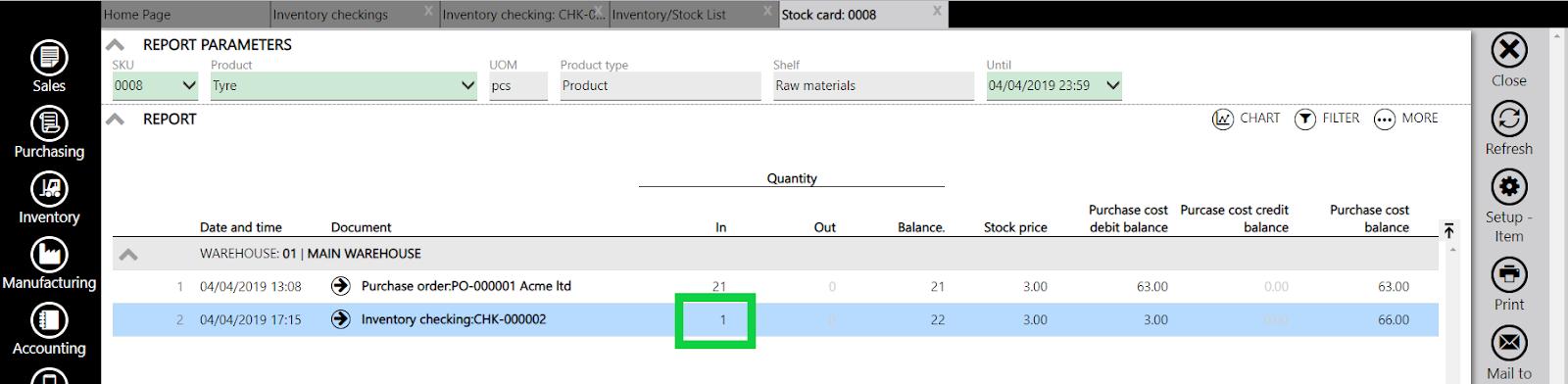 stock card surplus